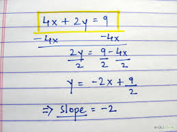 by doing so you must change positive negative signs and also doing some division along the way addition and subtraction too if that is how you like to
