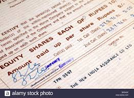 Form Of Share Certificate Share Certificates In Material Paper Stationery Form As