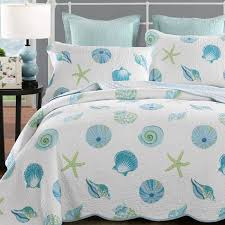 newrara seashell beach bedding queen beach theme quilt