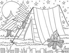 Small Picture Girl Scout camping Coloring Pages Groovy Girls Camp Coloring
