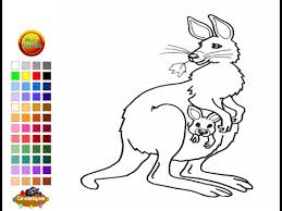 Small Picture Kangaroo Coloring Pages For Kids Kangaroo Coloring Pages YouTube