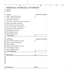 Personal Financial Statement Blank Forms Blank Personal Financial Statement Form Template Free Word Pdf