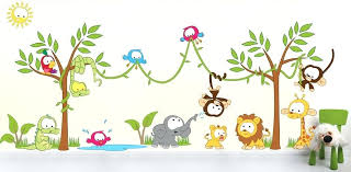 jungle wall stickers gender neutral wall decal safari tree investigating some of the best you can jungle wall stickers