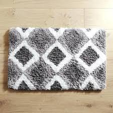 dark gray bathroom rugs cloud step diamond charcoal bath rug dark grey bathroom rugs