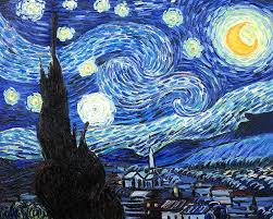 vincent van gogh starry night over the rhone wallpaper painting technique