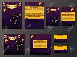 Halloween Business Cards Orange And Purple Brochures And Business Cards With Halloween