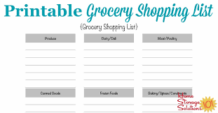 Template For Shopping List Free Printable Grocery Shopping List Template