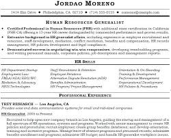 Human Resource Resume Objective Hr Generalist Resume Objective 87