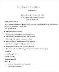 objective on resume for receptionist dental office receptionist resume dental receptionist resume in
