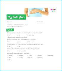 Birth Plan Check List Editable Birth Plan Template