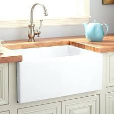 fireclay farmhouse sink. Kitchen With Farmhouse Sink Lightweight Smooth Apron White 30 Baldwin Fireclay