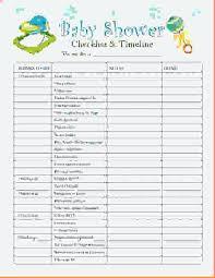 Baby Shower Party Checklist Baby Shower Planning Checklist Bursavideo Info