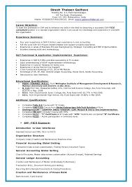 Sap Fico Sample Resume Sap Fico Resume Sap Sample Resumes Download Format Templates Folo Us