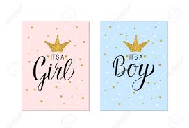 Gender Reveal Banners Its A Girl And Its A Boy Calligraphy