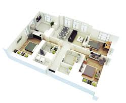 25 more 3 bedroom 3d floor plans architecture design 4 three home cool office designs awesome 3d floor plans