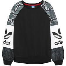adidas jumper. adidas originals la printed jersey sweatshirt ($72) ❤ liked on polyvore featuring tops, jumper
