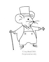 City Mouse Embroidery Pattern