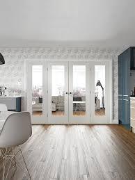 white primed easi frame internal doors system lifestyle roomshot