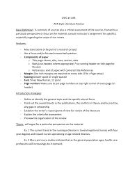 Literature Review In Apa Apa Literature Review Guide