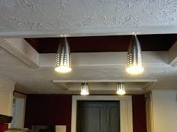 convert recessed light to track light kitchen replace fluorescent light fixture in with led as convert