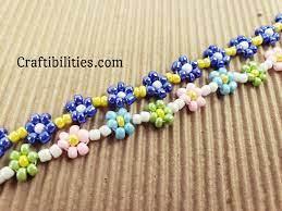 flower seed bead bracelet basic daisy