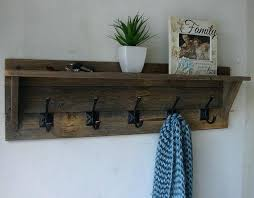 Wooden Coat Racks Wall Mounted Uk Interesting Coat Rack With Shelf Rustic Reclaimed Wood 32 Hanger Coat Rack With