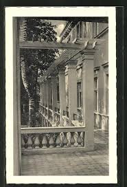 Ansichtskarte Berlin-Zehlendorf, Albert-Forster-Schule, Säulengang:  Manuscript/PaperCollectible   Bartko-Reher