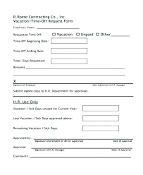 Free Download Sample Employee Time Off Request Form Template