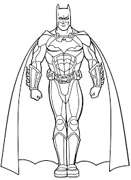 Disegni Di Batman Da Colorare Fredrotgans