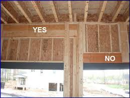garage door header construction portal