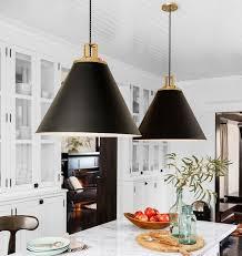 pendant lights decor kitchen hanging black white gold ideas