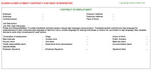 Interpreter Job Description Deaf Interpreter Job Employment Contract Sample Employment