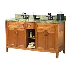 home decorators collection exhibit 61 in w x 22 in d double bath vanity in rich cinnamon with granite vanity top in quadro triaqd6122d the home depot