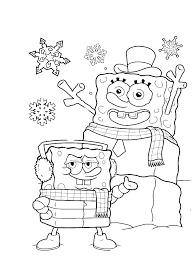 Christmas Spongebob Coloring Pages Spongebob Christmas Coloring