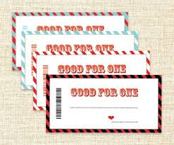Free Printable Coupons Personalized Coupon Book Template Merry And