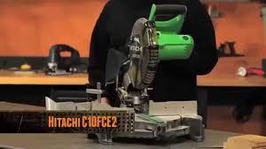 hitachi 10 miter saw. [best miter saw] hitachi c10fce2 10-inch compound saw how to \u0026 review hitachi 10 miter saw