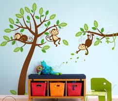 three monkeys in a tree wall decal wall sticker