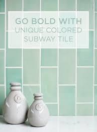 Unique-Color-Subway-Tile Go Bold with Unique Colored Subway Tile All  Bathrooms