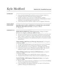 Exercise Science Resume Examples Effective Resume Objective Statements Examples Of Exercise Science