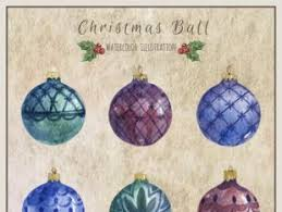 Hand Decorated Christmas Balls Watercolor Christmas Balls Free Vectors UI Download 95