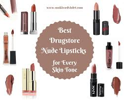 Light Purple Lipstick Drugstore Best Drugstore Nude Lipsticks For Every Skin Tone Swatches