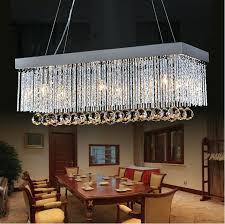 rectangle chandelier lighting rectangular dining room modern