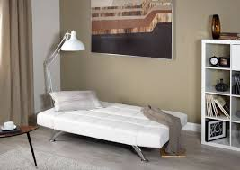Small Picture Buy Serene Venice Orchid White Faux Leather Sofa Bed Online CFS UK