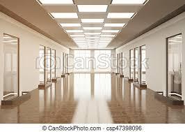 office hallway. Empty Office Hallway - Csp47398096