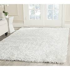 Unique White Area Rug Safavieh New Orleans Shag Collection Offwhite Polyester For Concept Design
