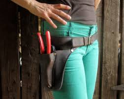 handmade leather tool belt. floral belt handmade leather tool l