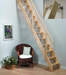 wood attic ladder small opening