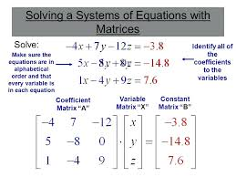 solving matrices with variables math 4 solving mathematics