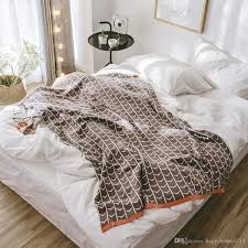 <b>Luxury Designer</b> Blanket <b>Geometric</b> Pattern <b>High</b> Quality Cotton ...