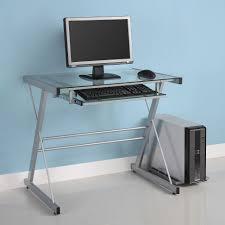 solo computer desk silver by walker edison walker edison